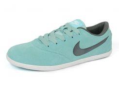 Кроссовки женские замшевые мятно-серые Nike Zoom