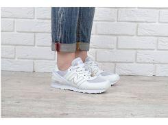 Кроссовки женские кожаные New Balance 574 белые