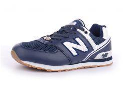 Кроссовки женские кожаные New Balance 574 темно-синие