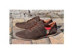Туфли мужские велюр (хромовая замша) коричневые Porshe Design Украина
