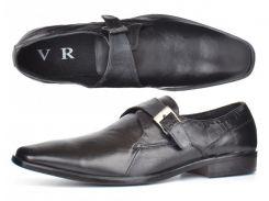 Мужские кожаные туфли классические черные Zapaterias VR