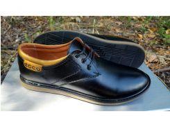 Подростковые кожаные туфли Ecco Anser black 36.37.38.39