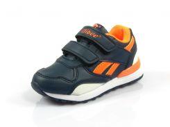 Детские кроссовки Clibee:K-185 тем.Синий+Оранж
