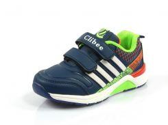 Детские кроссовки Clibee:K-169 тем.Синий+Салат