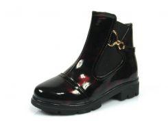 Детские ботинки Apawwa:L-428 тем.Бордовый