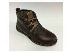 Ботинки мужские зимние Clarks 0926-3 коричневые