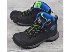 Ботинки зимние термо кожаные трекинговые Restime Bio черные с защитой
