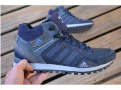 Мужские кожаные ботинки Adidas синий