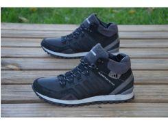 Мужские кожаные ботинки Adidas черный