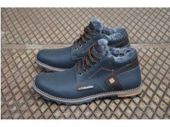 Мужские кожаные ботинки Columbia синий