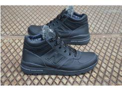 Мужские кожаные ботинки New balance черный