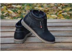 Мужские кожаные ботинки Tommy Hilfiger 565 бот.чер
