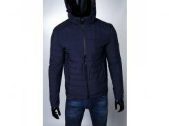 Куртка мужская зимняя SLS 15443 на меху синяя