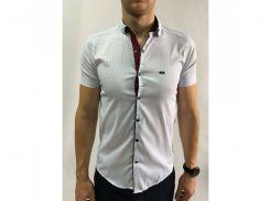 Рубашка мужская короткий рукав PS 95746_6 белая