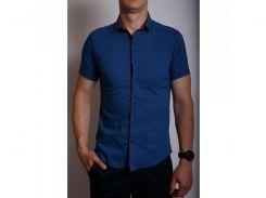 Рубашка мужская короткий рукав PS 95746_5 синяя