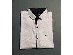 Рубашка мужская с коротким рукавом PS 4499_3 батал белый