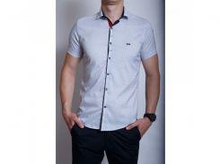 Рубашка мужская короткий рукав PS 95746_1 белый