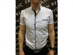 Рубашка мужская короткий рукав PS 88985_3 белый