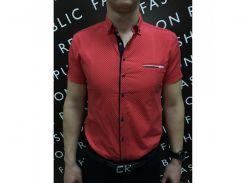 Рубашка мужская короткий рукав PS 88985