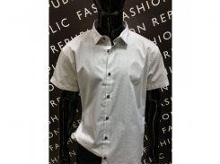 Рубашка мужская с коротким рукавом GS 4476699-1 батал