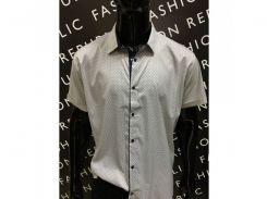 Рубашка мужская с коротким рукавом AMATO 731577 батал