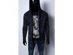 Кофта-мантия мужская Figo 9134_3 черная