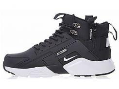 Кроссовки мужские Найк Nike Huarache X Acronym City MID Leather Black/White