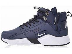 Кроссовки мужские Найк Nike Huarache X Acronym City MID Leather Navy/White