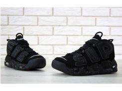 Мужские баскетбольные кроссовки Supreme x Nike Air More Uptempo Suptempo Black