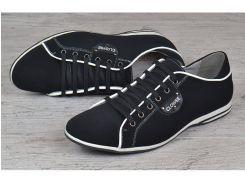 Туфли мужские кожаные на шнуровке Clowse черные