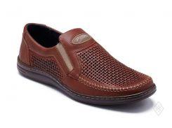 Мужские кожаные летние туфли Bastion 036 пр.
