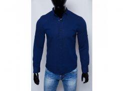 Рубашка мужская льняная Figo 15276_1 синяя