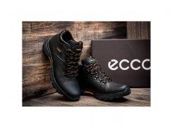 Мужские кожаные ботинки Ecco Infinity black