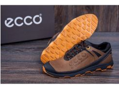 Мужские кожаные кроссовки Ecco Natural Motion olive