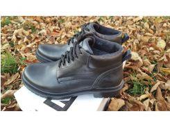 Мужские кожаные ботинки Military Leather black