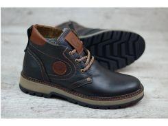 Мужские кожаные ботинки GSL 2018 чер