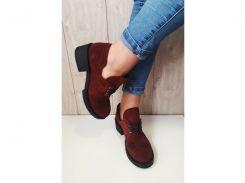 Туфли женские Crisma замш марсала 1950