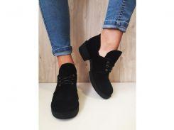 Туфли женские Crisma замш черный 1950