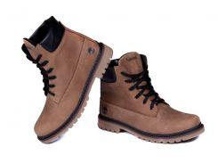 Мужские кожаные ботинки   Timberlend crazy shoes 125 ол