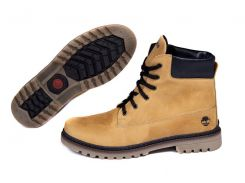 Мужские кожаные ботинки   Timberlend crazy shoes 125 ж