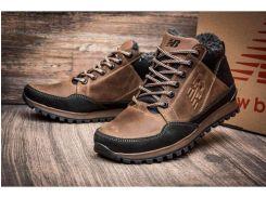 Мужские кожаные ботинки   New Balance Clasic brown