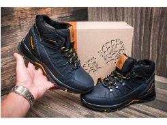 Мужские кожаные ботинки   NS blue