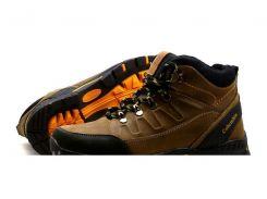 Мужские кожаные ботинки   NS olive