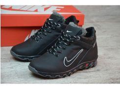 Детские кожаные зимние кроссовки Nike  N 2257