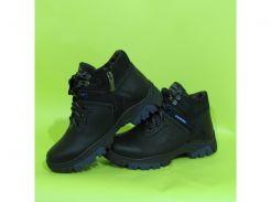 Детские кожаные зимние ботинки Zangak 122 зима синий