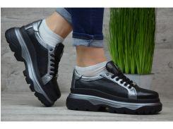 Женские кожаные кроссовки/кеды Philipp Plein Pp 2 чер