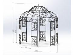 Альтанка садовая  350х360 см.