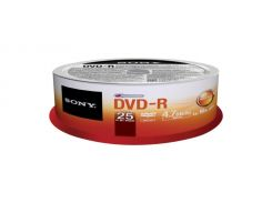 Sony DVD-R 120min 4,7GB 16x Spindle Packaging 25шт