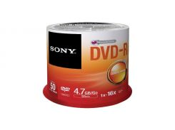 Sony DVD-R 120min 4,7GB 16x Spindle Packaging 50шт