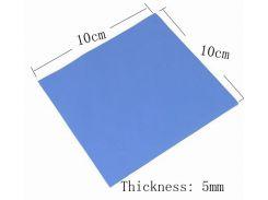 Термопрокладка силиконовая, терморезина 100 мм x 100 мм/ 0.5мм